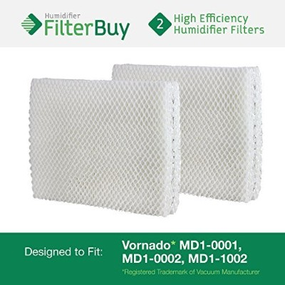 Vornado MD1-0001, MD1-0002, MD1-1002 Humidifier Wick Filter. Designed by FilterBuy to fit all...
