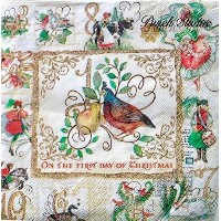 Punch Studio Luncheon Napkins ~クリスマスの12日40 ct