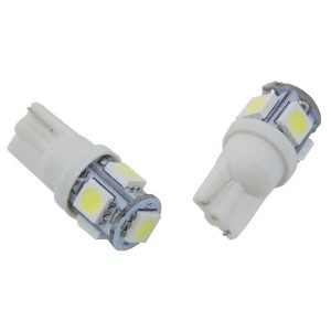 IPCW (CWB-194LW5) 194 White 360° 5-LED Bulb with Waffle Mount - Pair [並行輸入品]