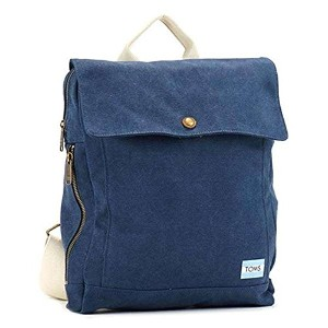 TOMS トムス NAVY CANVAS BACKPACK バックパック ネービー 10010062 [並行輸入品]
