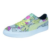 Puma Basket 68 Print Mens Leather Sneakers / Shoes-Multicolored-25.5