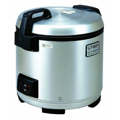 Tiger JNO-A36U-XB 20-Cup (Uncooked) Commercial Rice Cooker and Warmer, Stainless Steel Black by...
