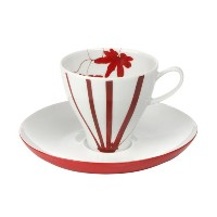 Mikasa Pure Red fine china coffee cup and saucer by Mikasa