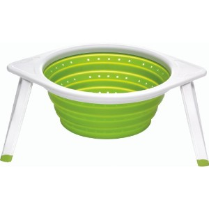 Chef ' n SleekStor Collapsible Colander Large 11インチ直径 L グリーン 102-052-011