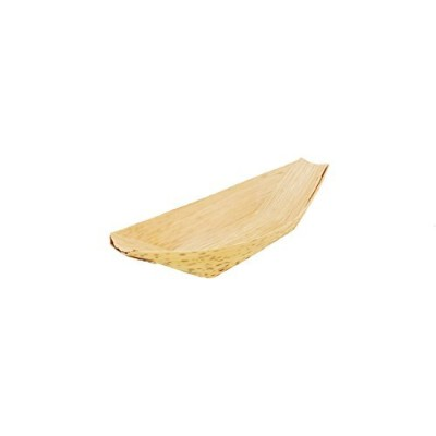BambooMN Brand - Bamboo Leaf Boat - 7.3 x 3.7 (18.5cm x 9.5cm) - 100 Pieces by BambooMN