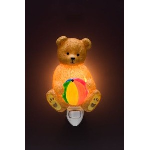 Teddy Bear Ibis & Orchid Night Light # 50059