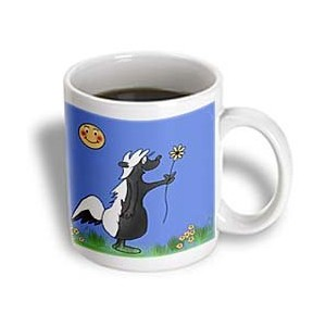 3dローズ777images Designs Cartoons–Cute Cartoon Skunk Picking Flowers For His Date With A Sun...