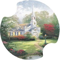 Thirstystone Hometown Chapel Car Cup Holder Coaster, 2-Pack by Thirstystone [並行輸入品]