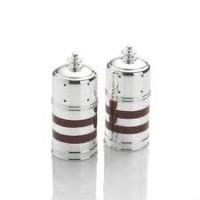 Towle Silversmiths HolidayレッドストライプSilverplated Salt & Pepper Shakers