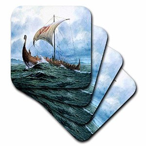 フローレンボート – Viking ship. Jpg – コースター set-of-4-Soft cst_98640_1