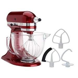 KitchenAid 5-Quart Stand Mixer Glass Bowl Granadine by KitchenAid