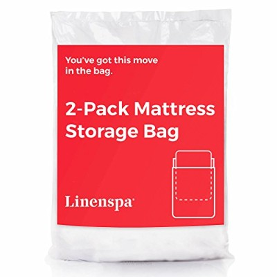 (King) - LINENSPA 2-Pack Mattress Bag for Moving and Storage for King/California King Mattresses...