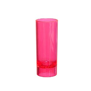 Party Essentials Hard Plastic 2-Ounce Shot/Shooter Glasses, Neon Pink, 10 Count [並行輸入品]