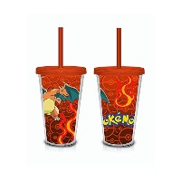 Pokemon Charizard Lenticular Print 18 oz. Travel Cup by JUST FUNKY