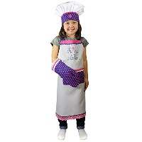 High Qualityn MUkitchen MiniMU Kids 3-Piece Cotton Chef Set with Apron, Hat and Mitt, Princess in...
