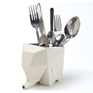 giveme5 Lovely elephant-shaped Cutlery Drainerストレージボックス/鉛筆ホルダーケース/ Bathroom Cosmeticストレージ組織for...