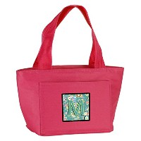 Caroline's Treasures CJ2015-MPK-8808 Letter M Circle Teal Initial Alphabet Insulated Lunch Bag,...
