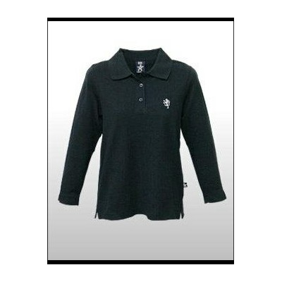 BB LONDON(ビービーロンドン)-Lady's- L/S Polo @HILDA -BLACK[LY202] レディス ポロシャツ/7分袖 【YDKG-kd】【smtb-kd】